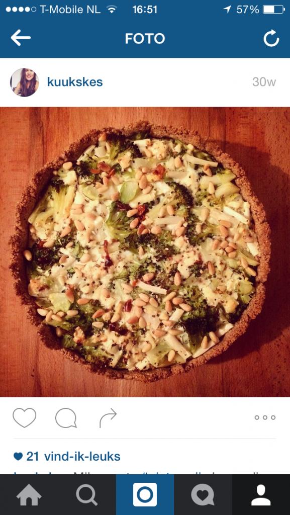 Broccoli quiche met amandelbodem