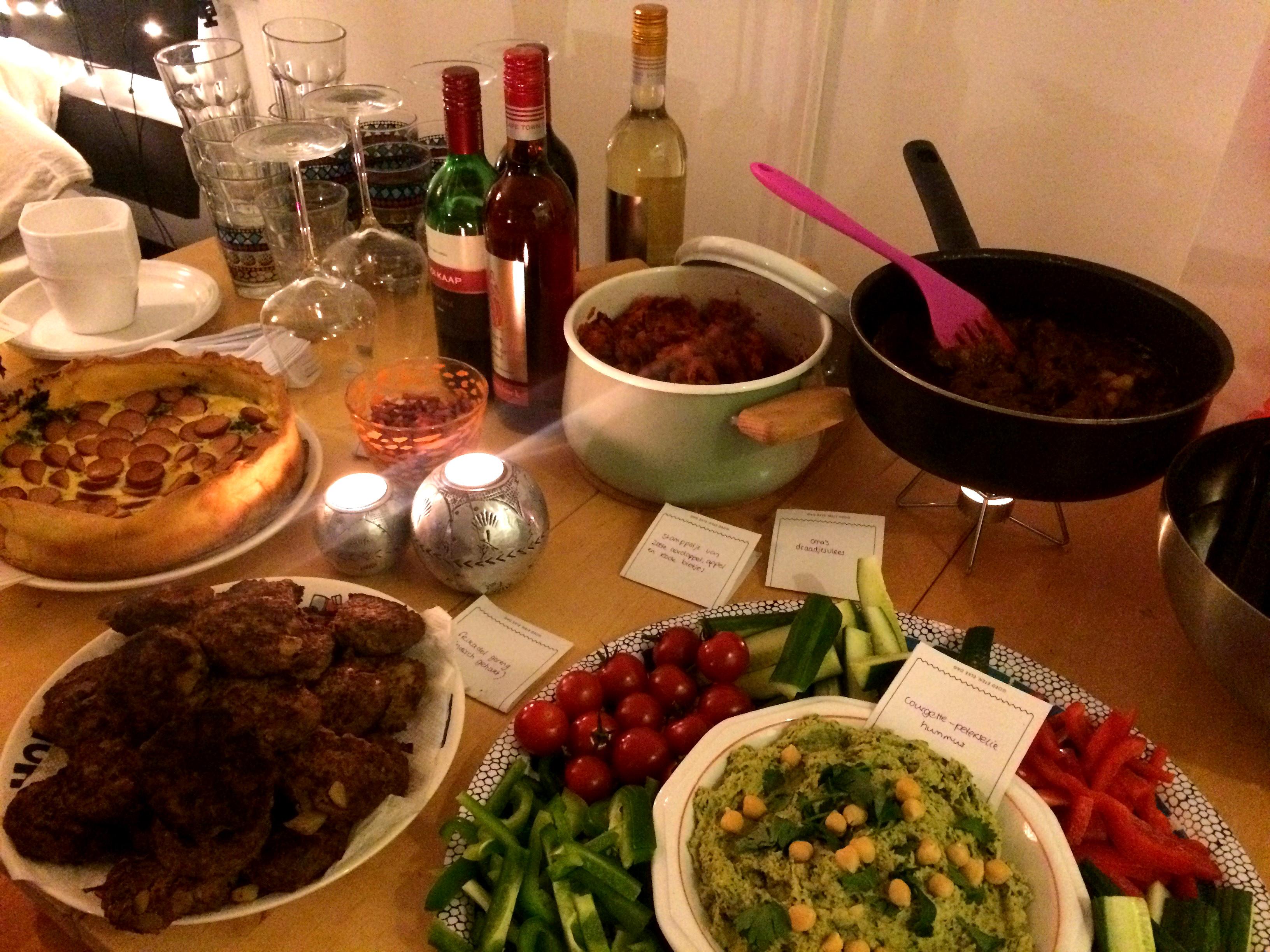 Kuukskes' eerste feestje