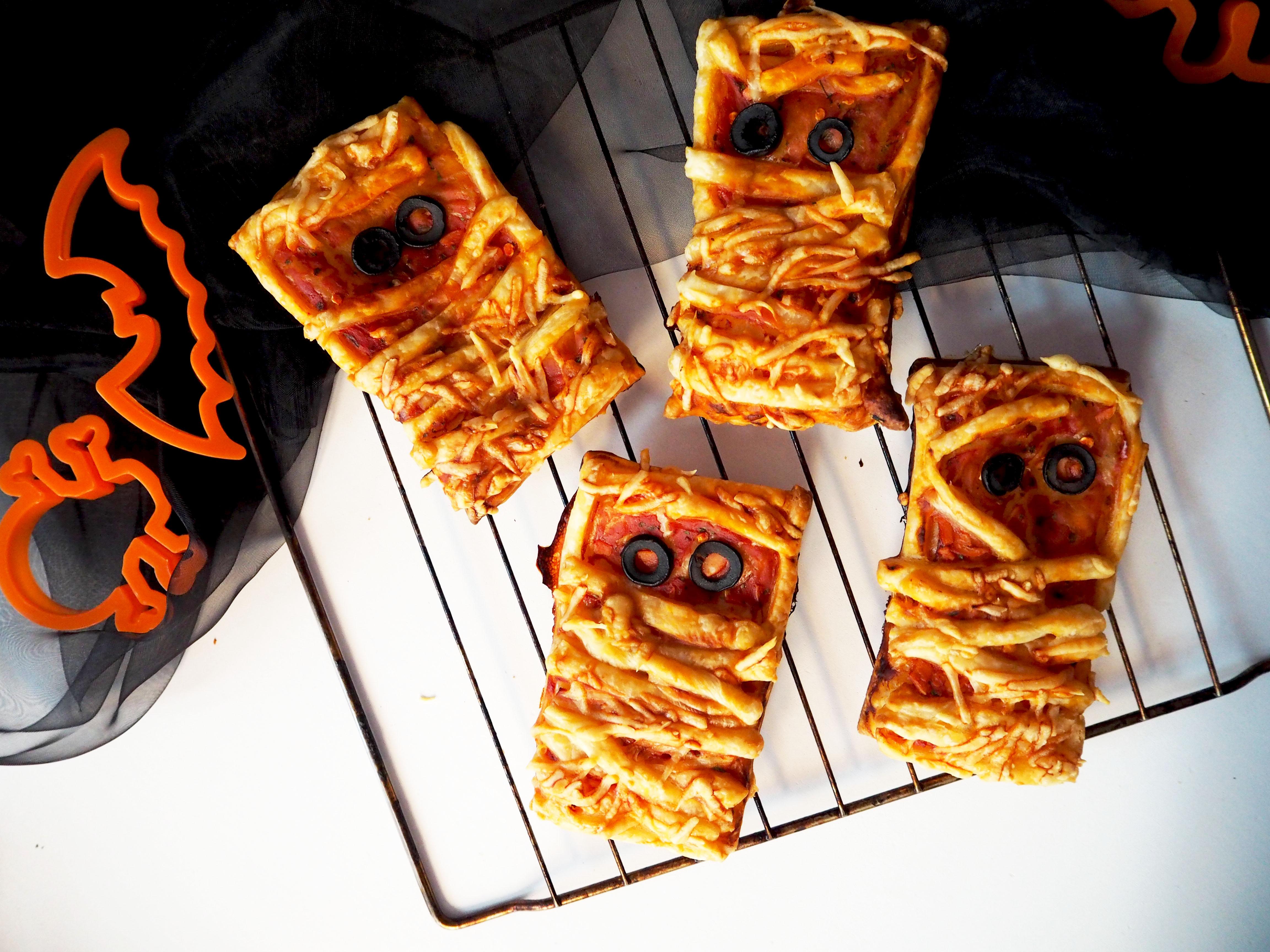 halloween bladerdeeg mummie pizza