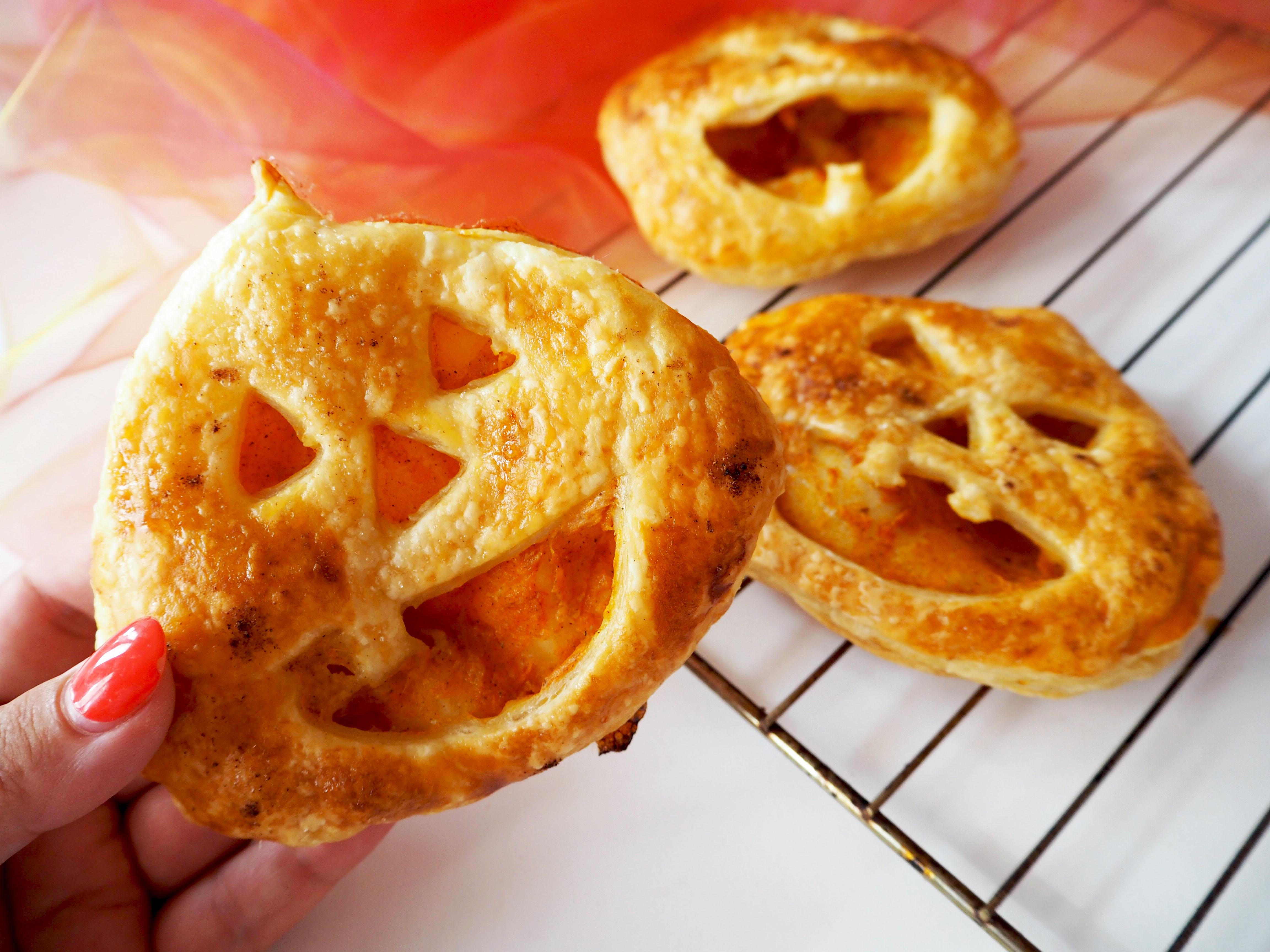 jack-o'-lantern bladerdeeg recept halloween