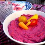 Hummus met rode biet