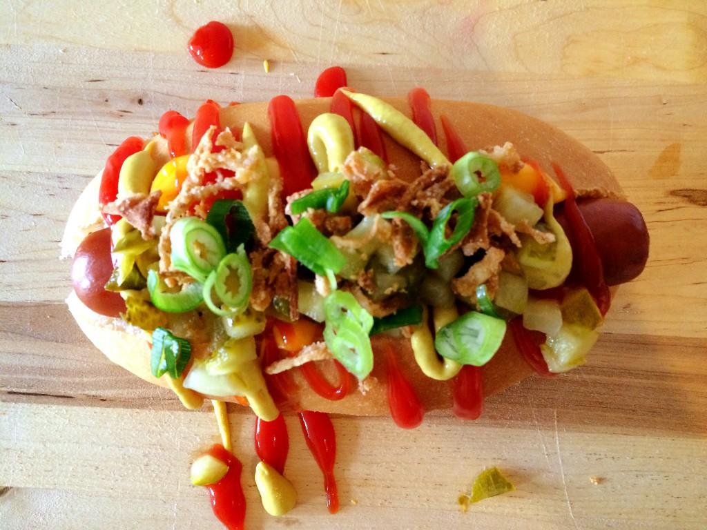 Feestelijke Hotdog