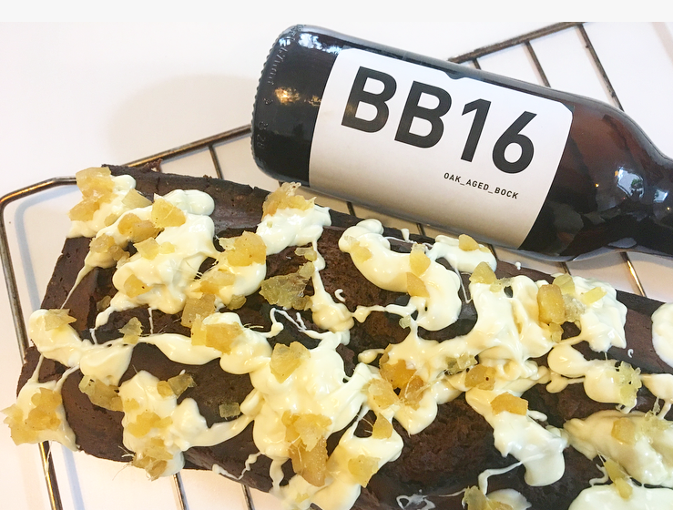 Chocolade- biercake met BB16 Oak aged Bockbier