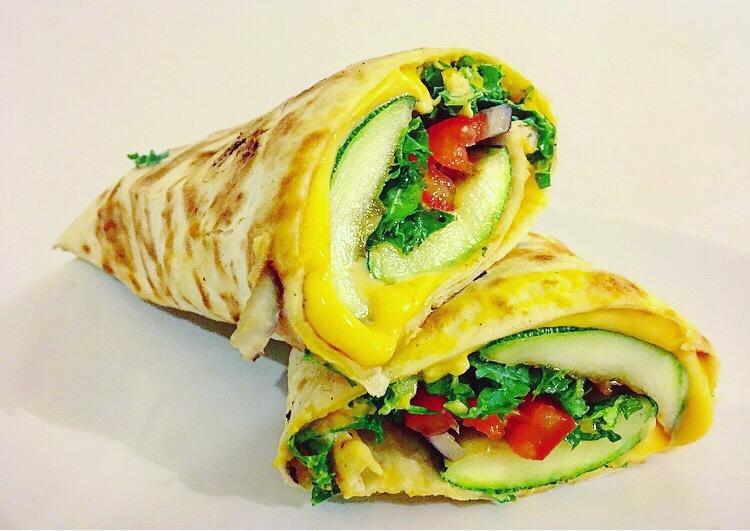 wrap met hummus en gegrilde groente