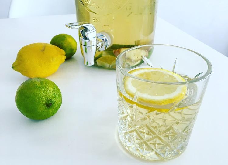 Lekker verfrissend: ijsthee met citrusvruchten en gember