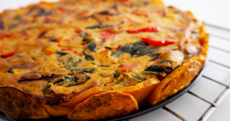 Meatless Monday: Vegan quiche met tofu en zoete aardappel