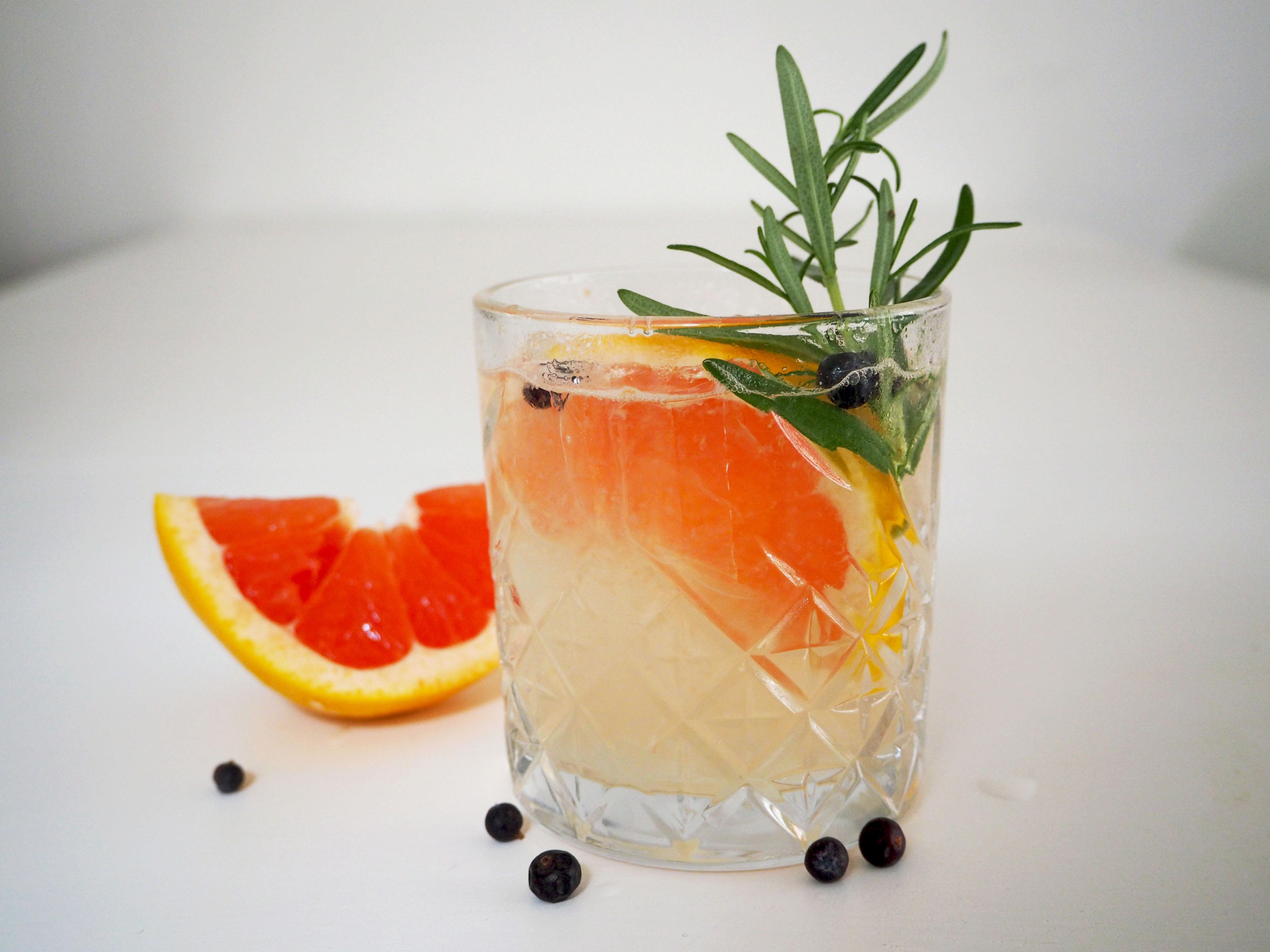 elderflower GT met grapefruit
