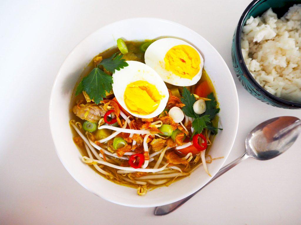 Soto ayam oftewel Indische kippensoep- soep