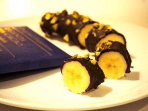 chocolade sushi met banaan delicatachallenge
