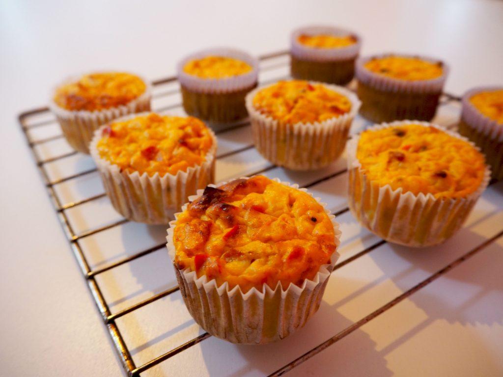Hartige stamppot muffins met koolraap en spekjes