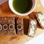 vegan food: bananenbrood met cashew