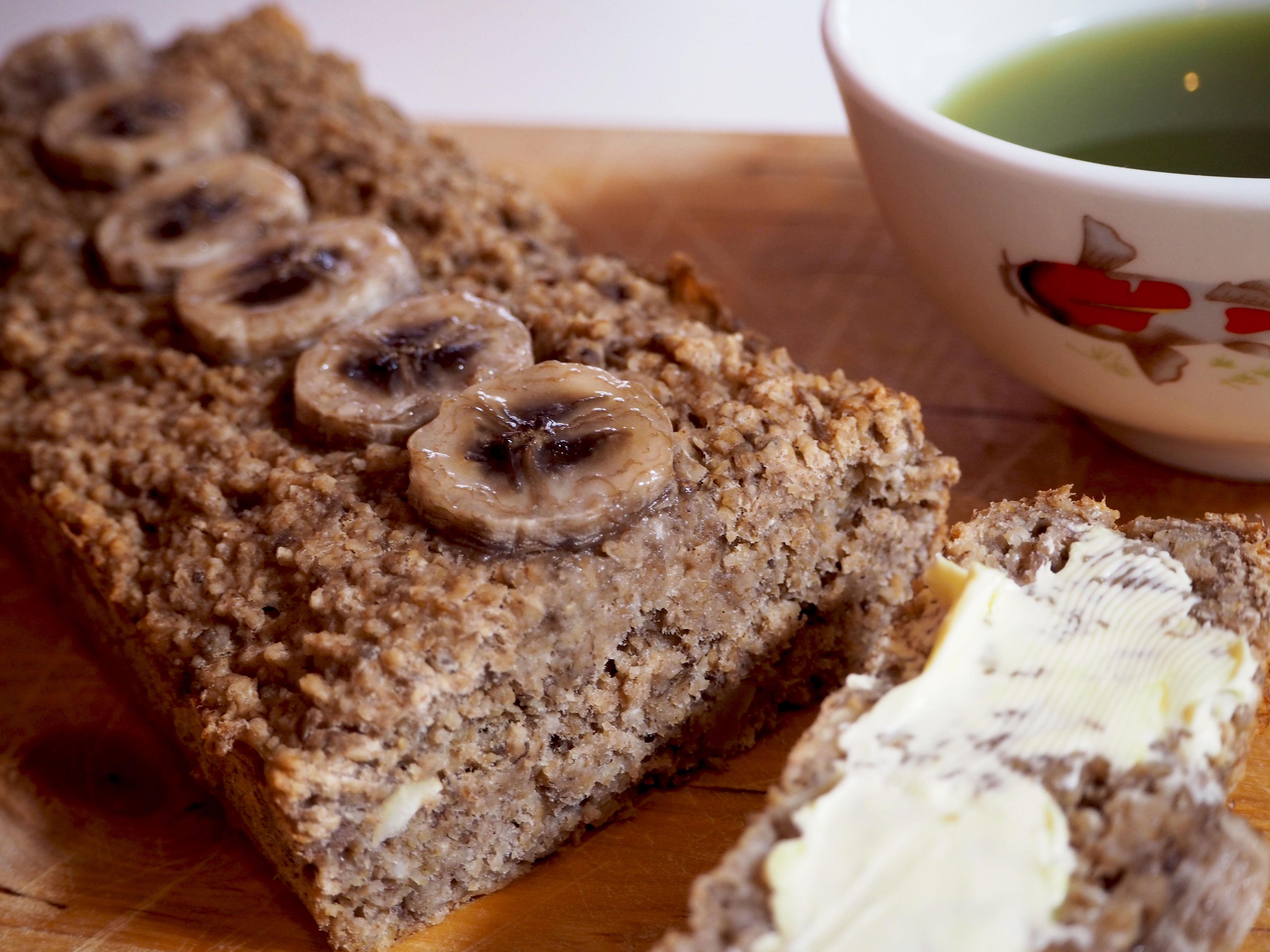 vegan bananenbrood met havermout