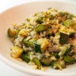 risotto met courgette en groene asperges