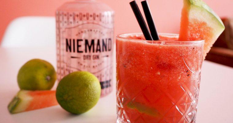 zomerse watermeloen gin punch