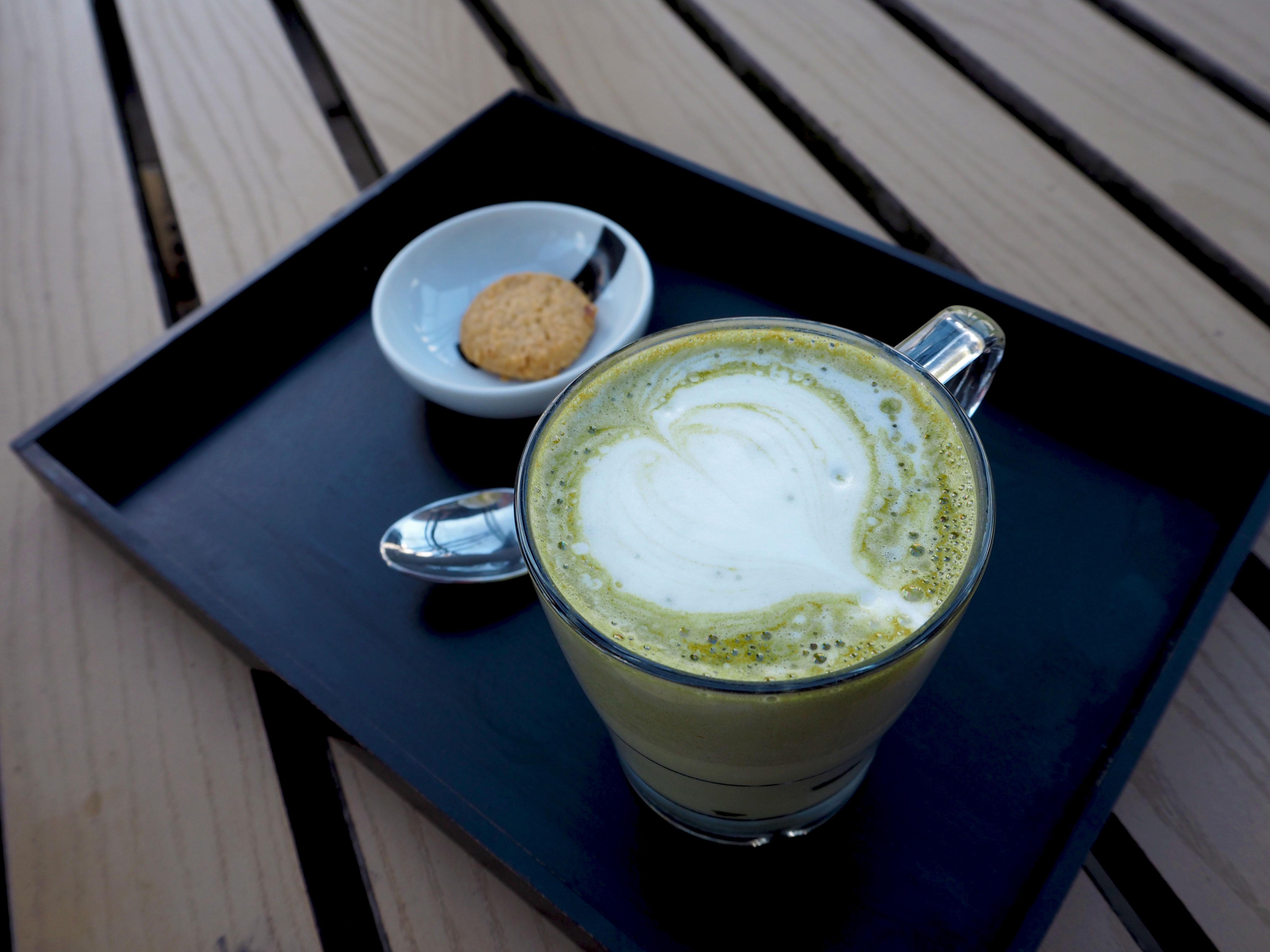 matcha latte koffiecaartje