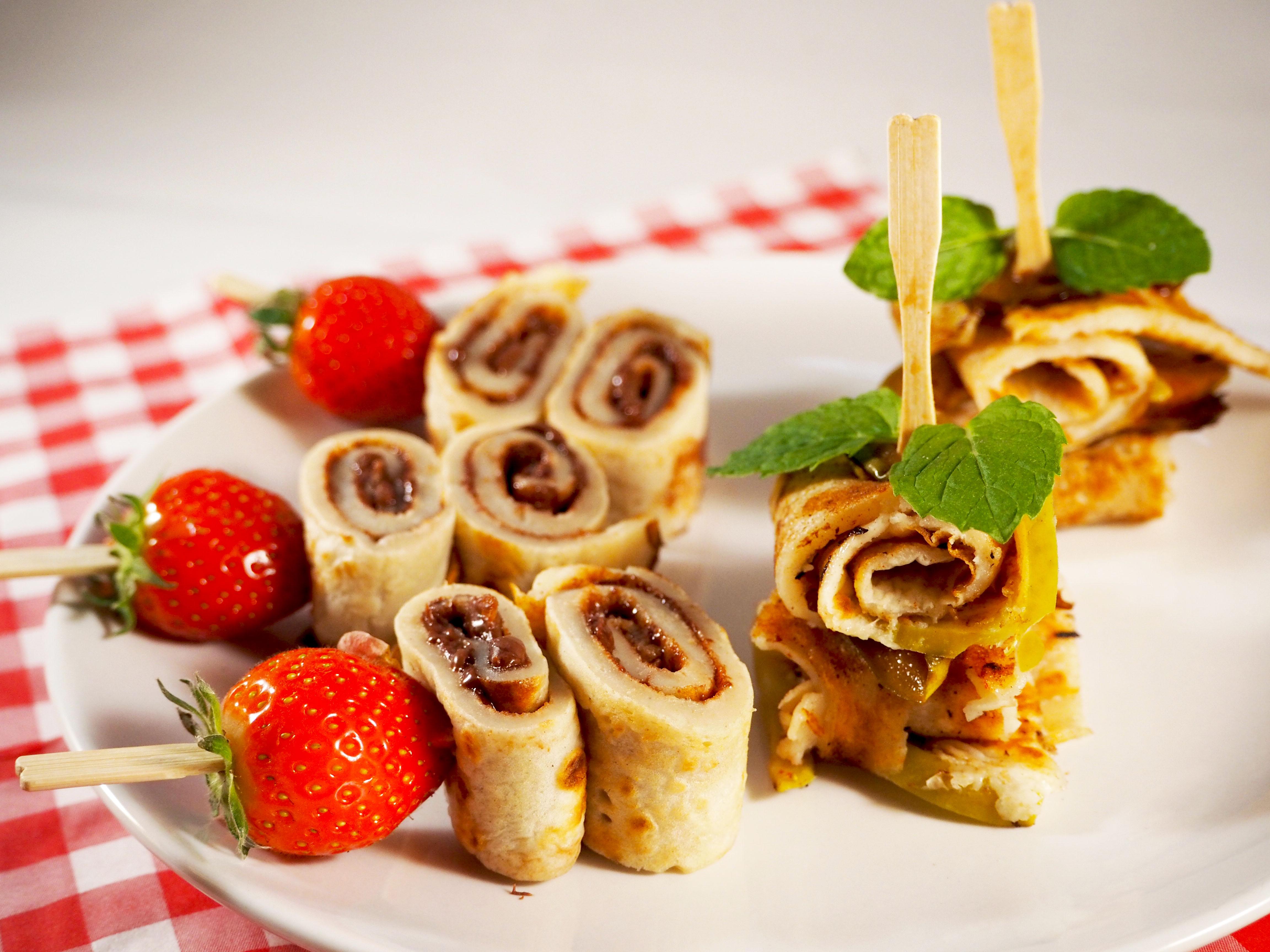 pannenkoeken met frutesse en nutella