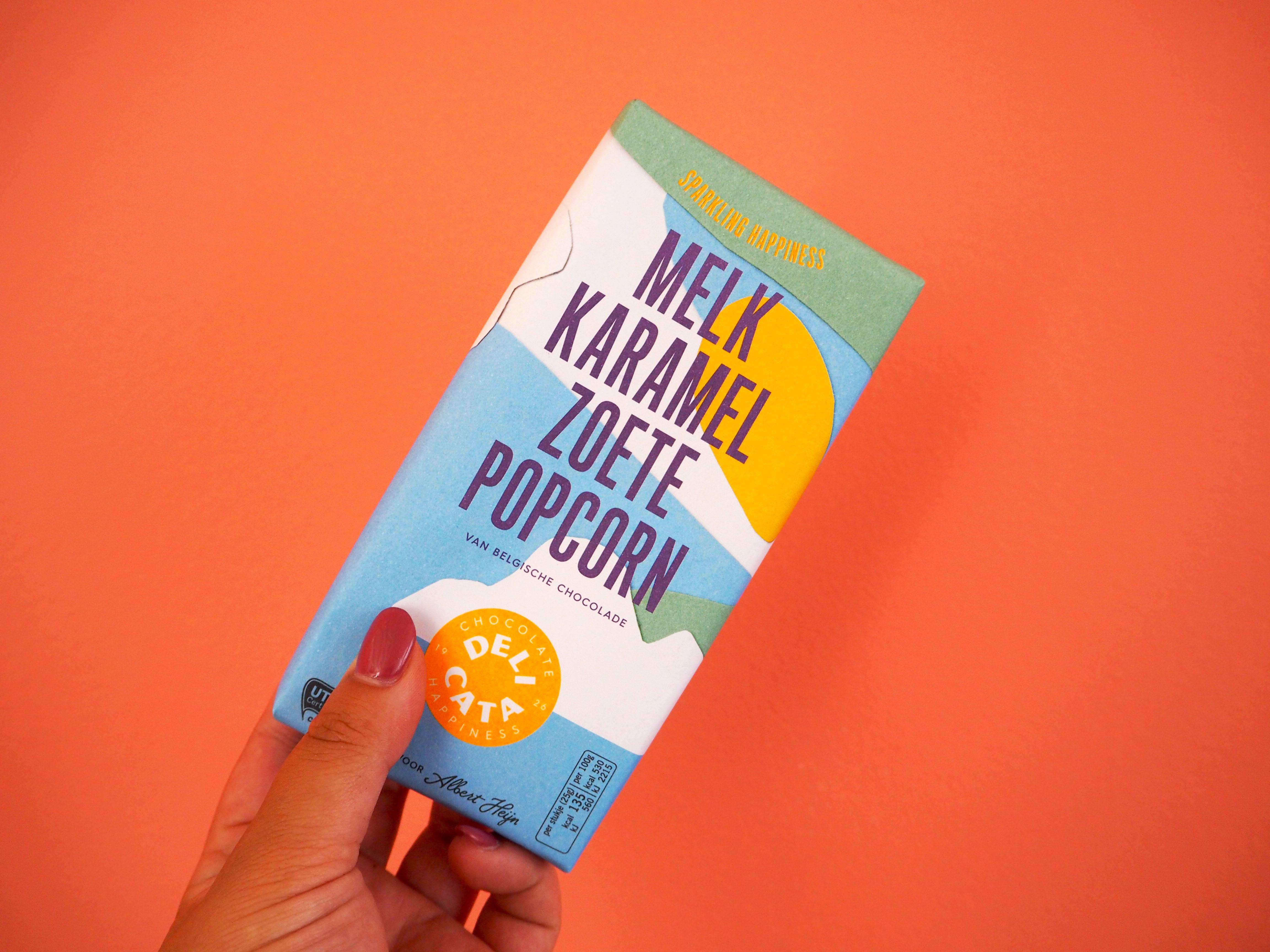 delicata melk karamel zoete popcorn chocolade