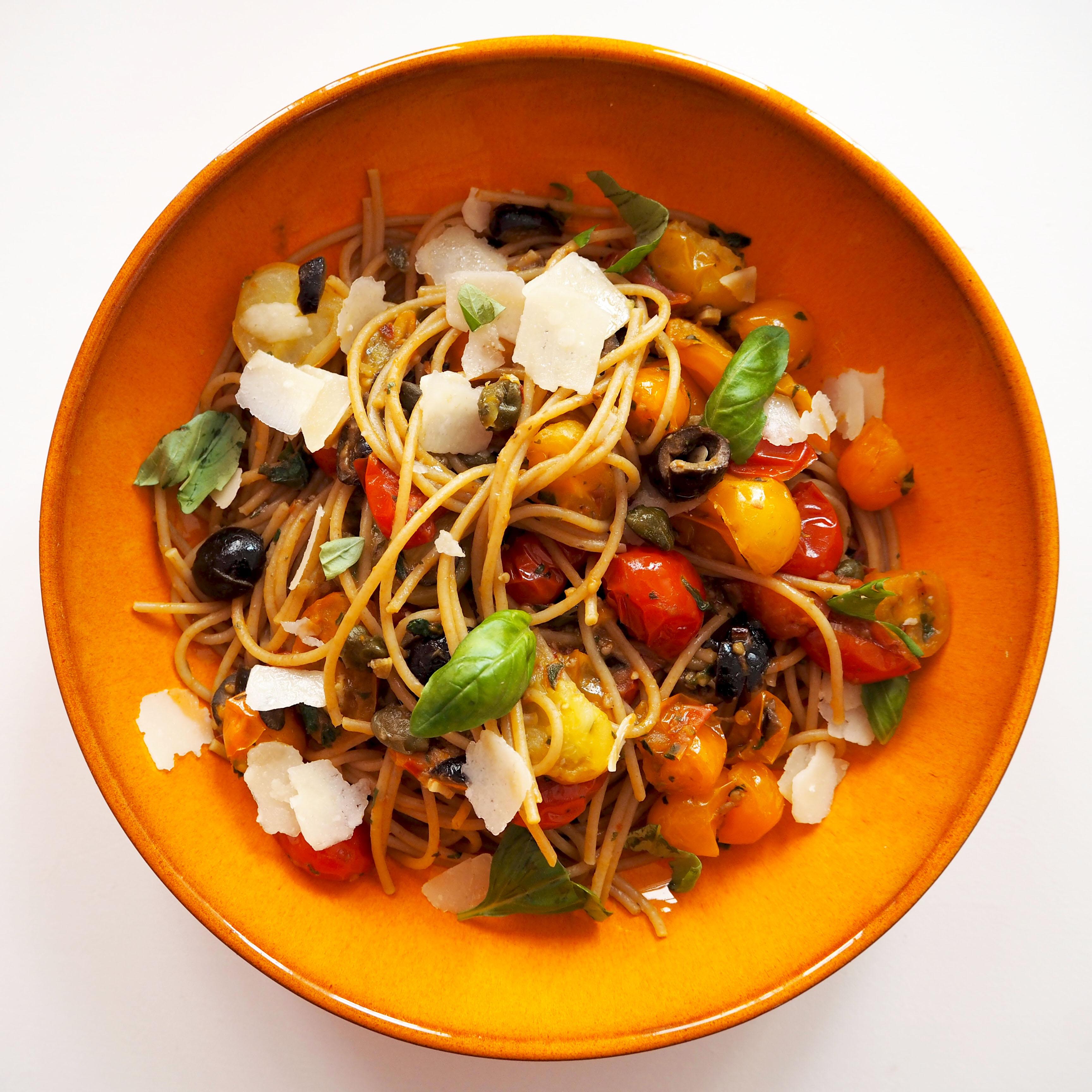 volkoren spaghetti puttanesca