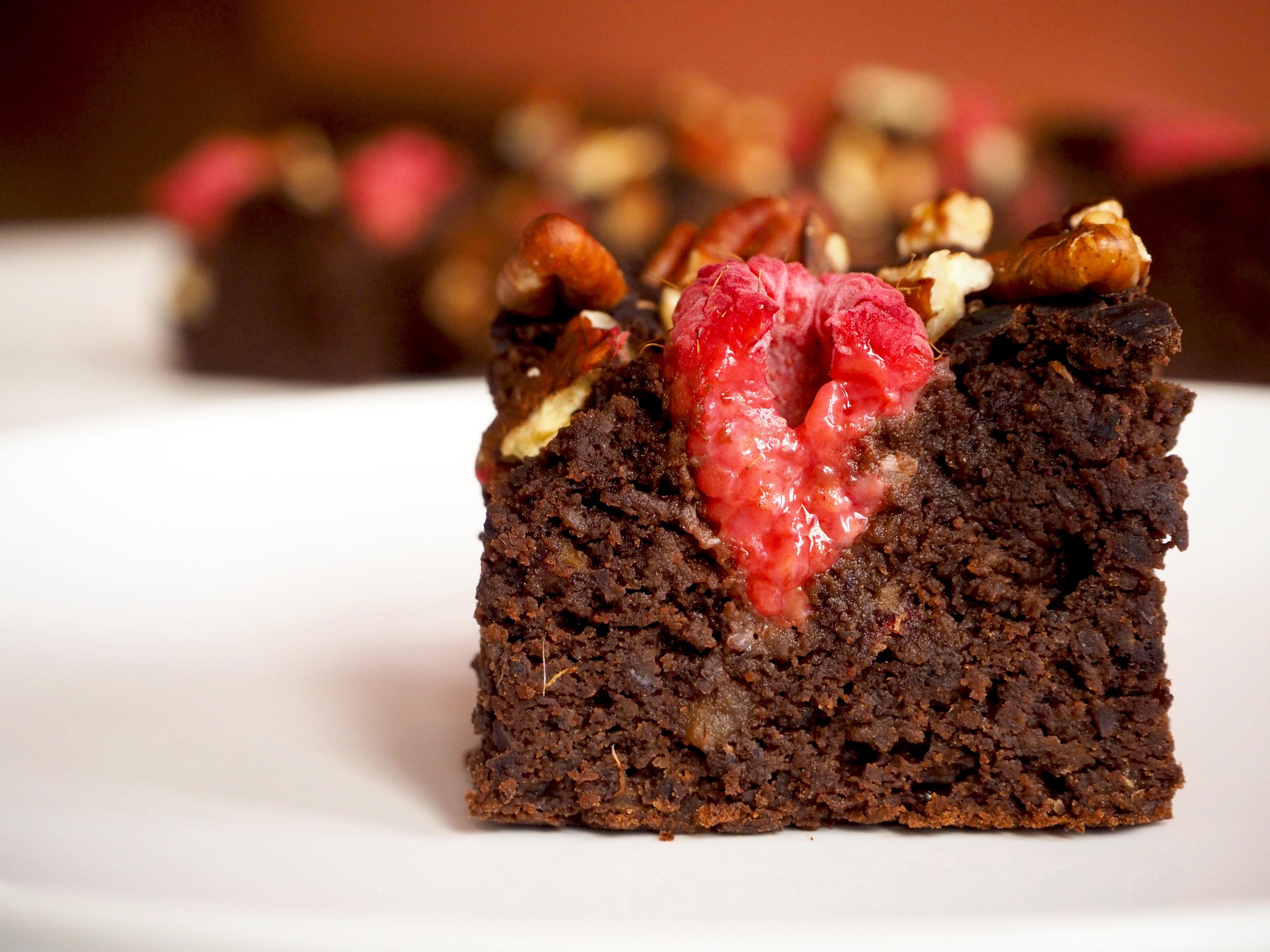 gezonde brownies met zwarte bonen