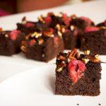 zwarte bonen brownies met pecan