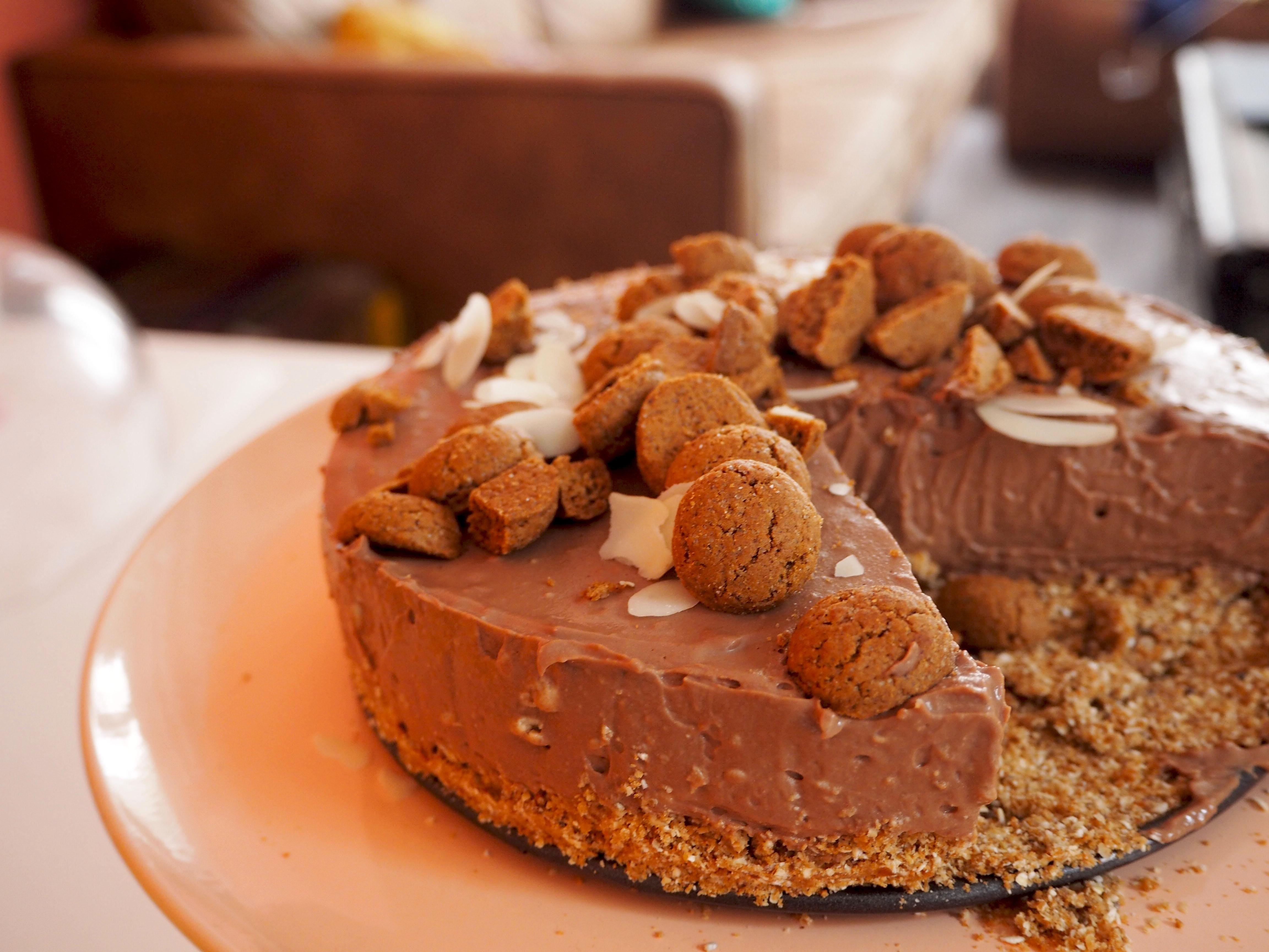 chocolade kruidnoten taart