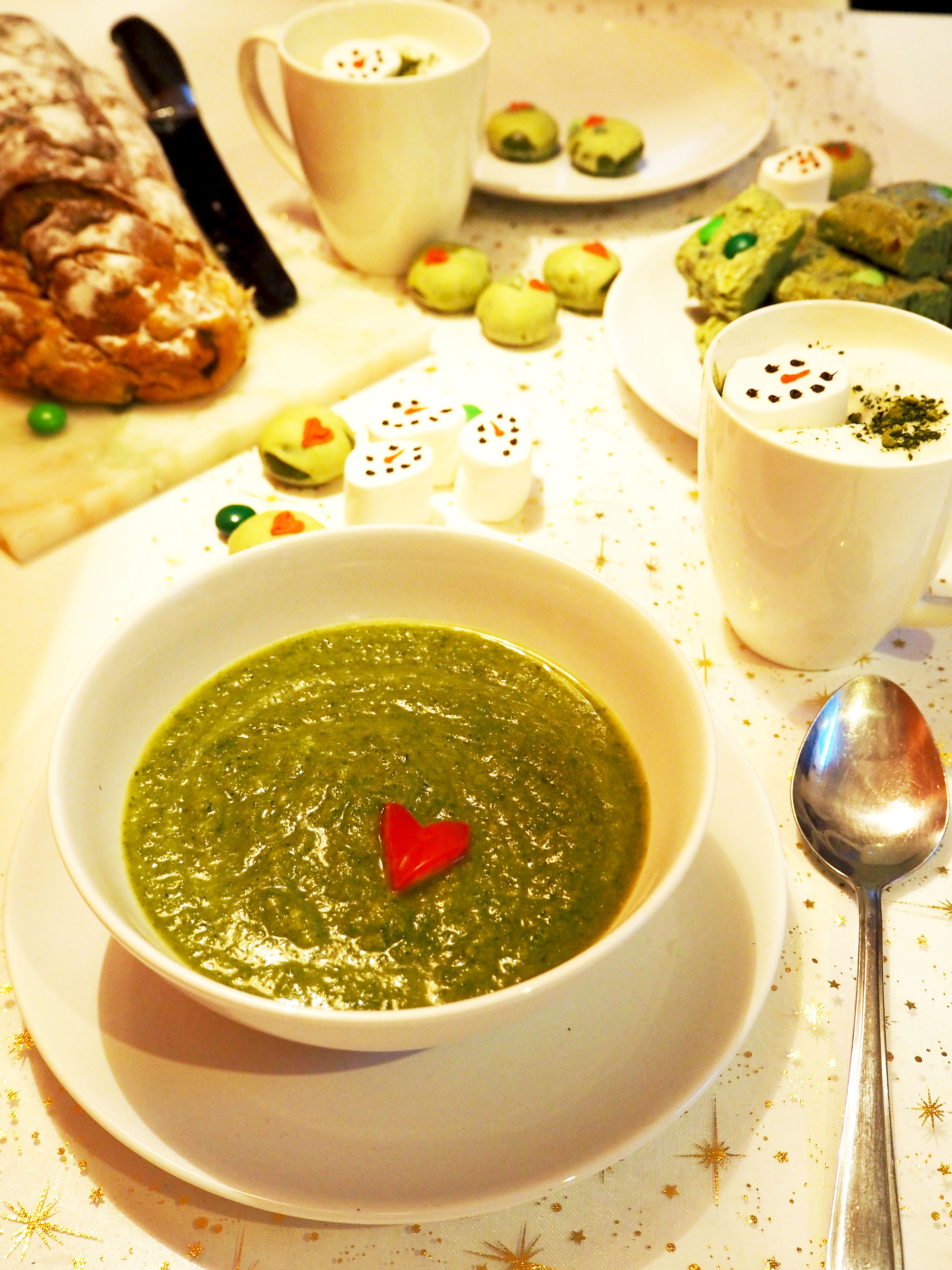 the grinch recept courgette spinazie soep