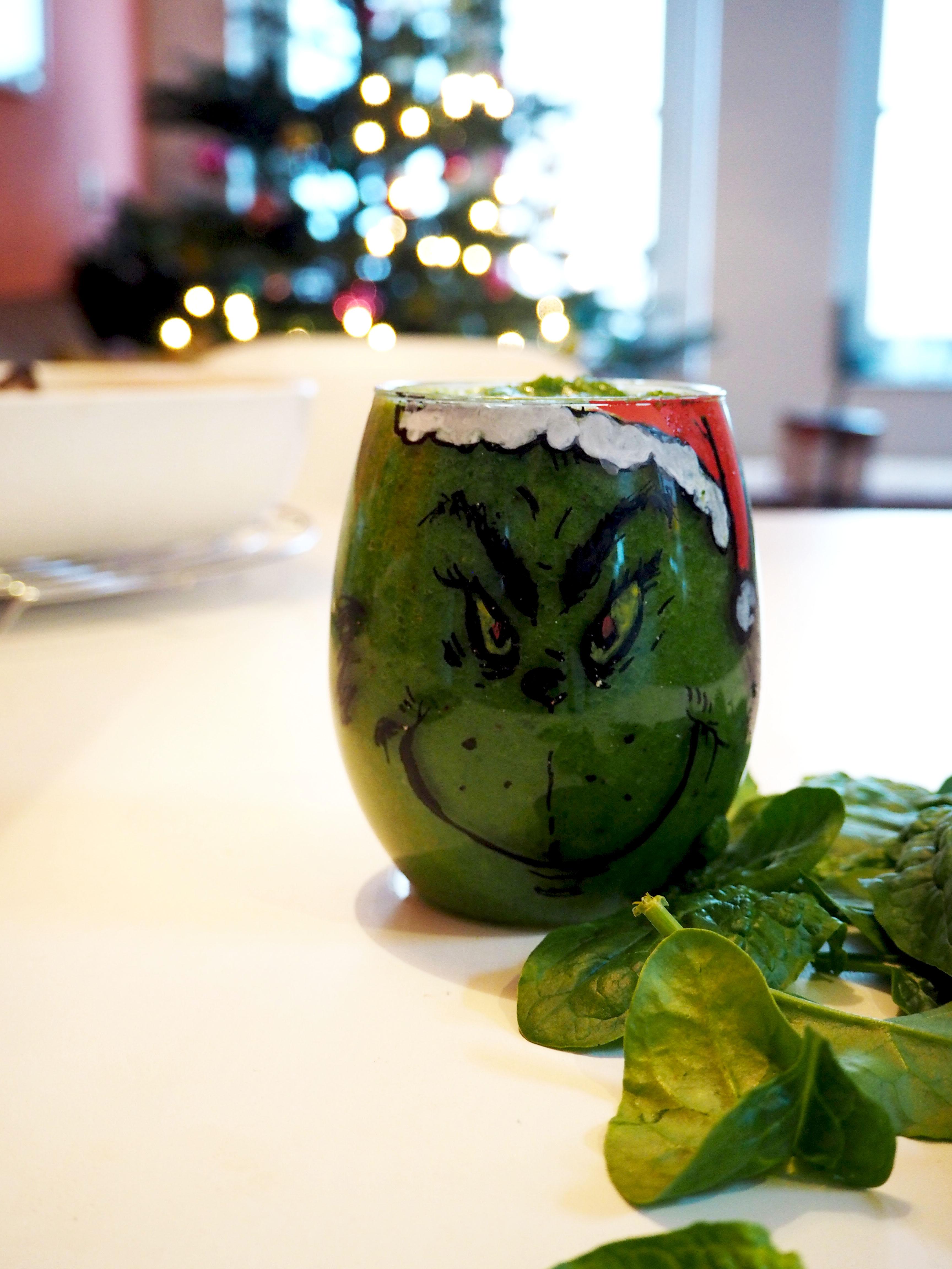 gezonde groene smoothie grinch