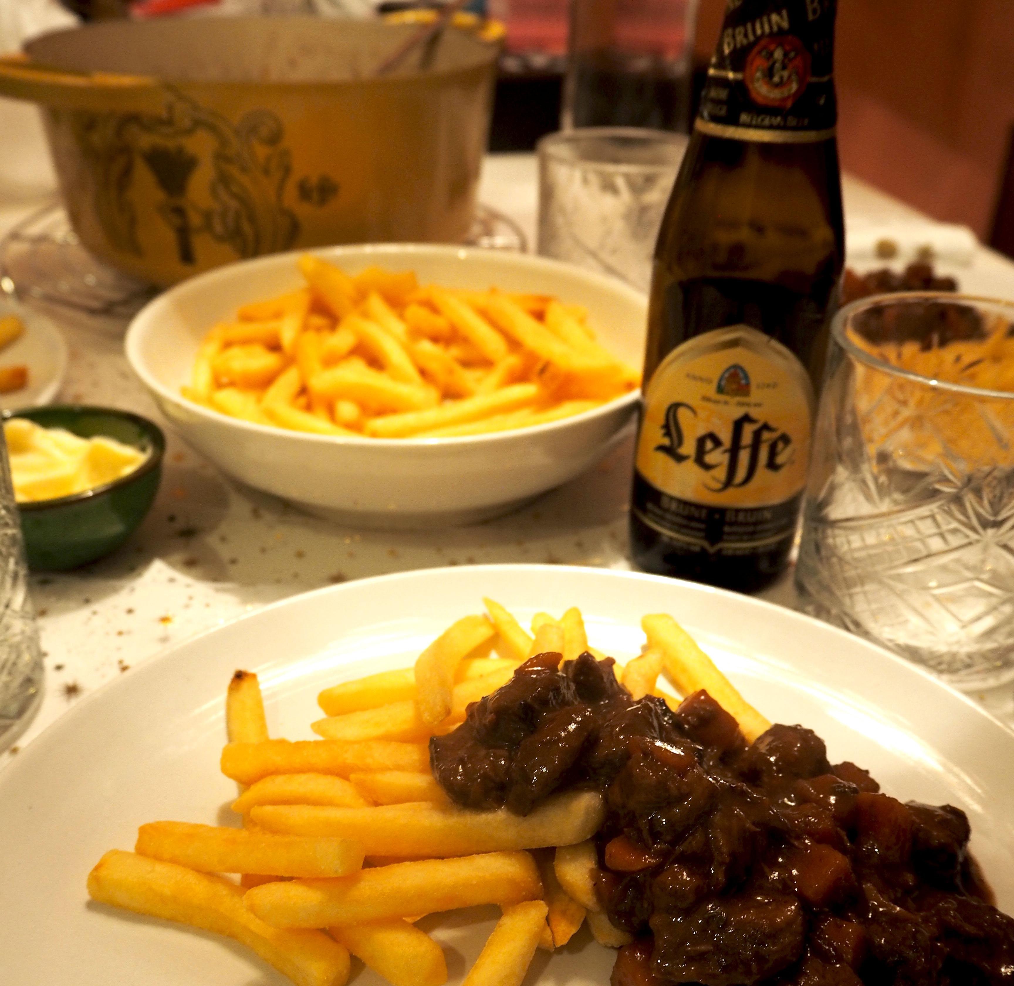 hugo's stoofvlees met leffe bruin