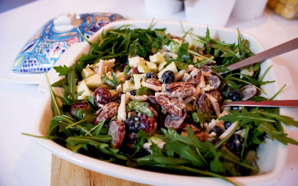 frisse waldorf salade zonder bleekselderij