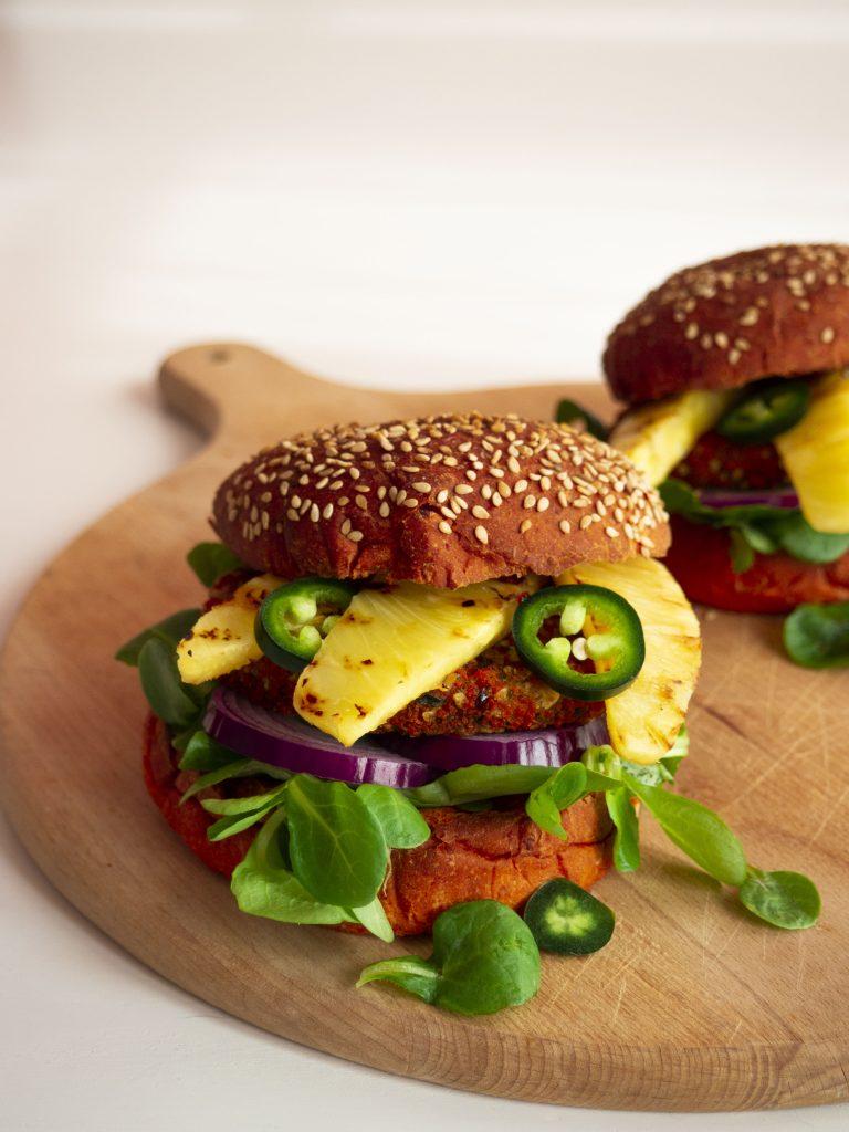 Vegan BOON Hawaï burger Met ananas