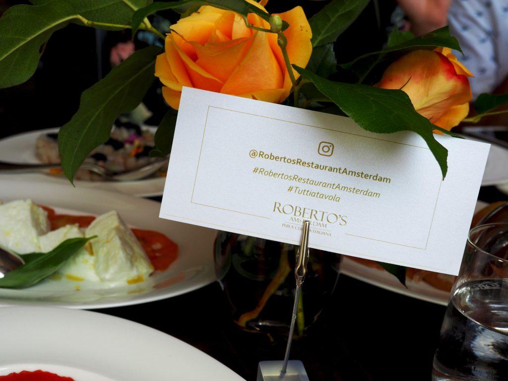 tutti a tavola bij robert's restaurant hilton amsterdam