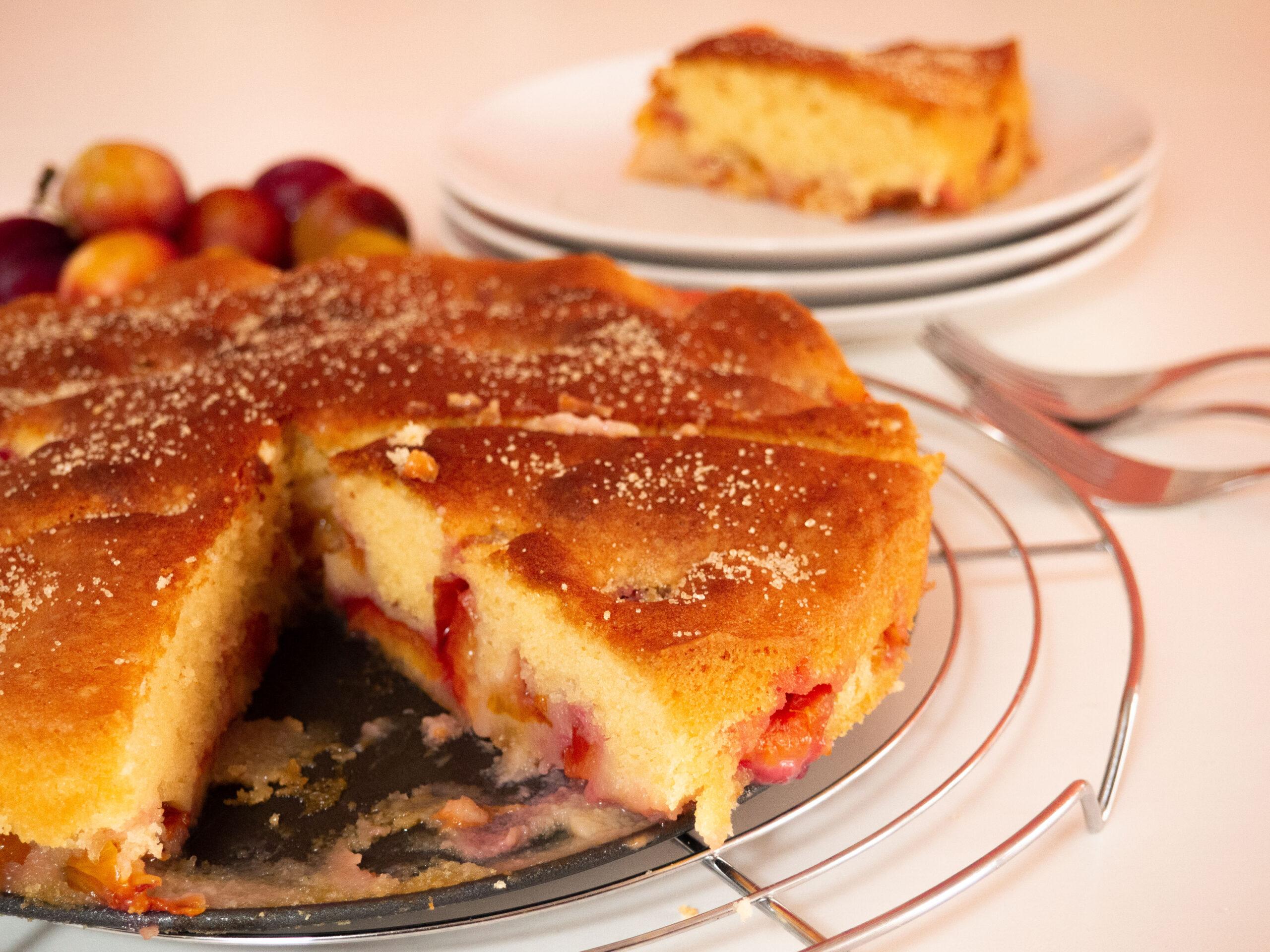 Makkelijke cake met verse pruimen