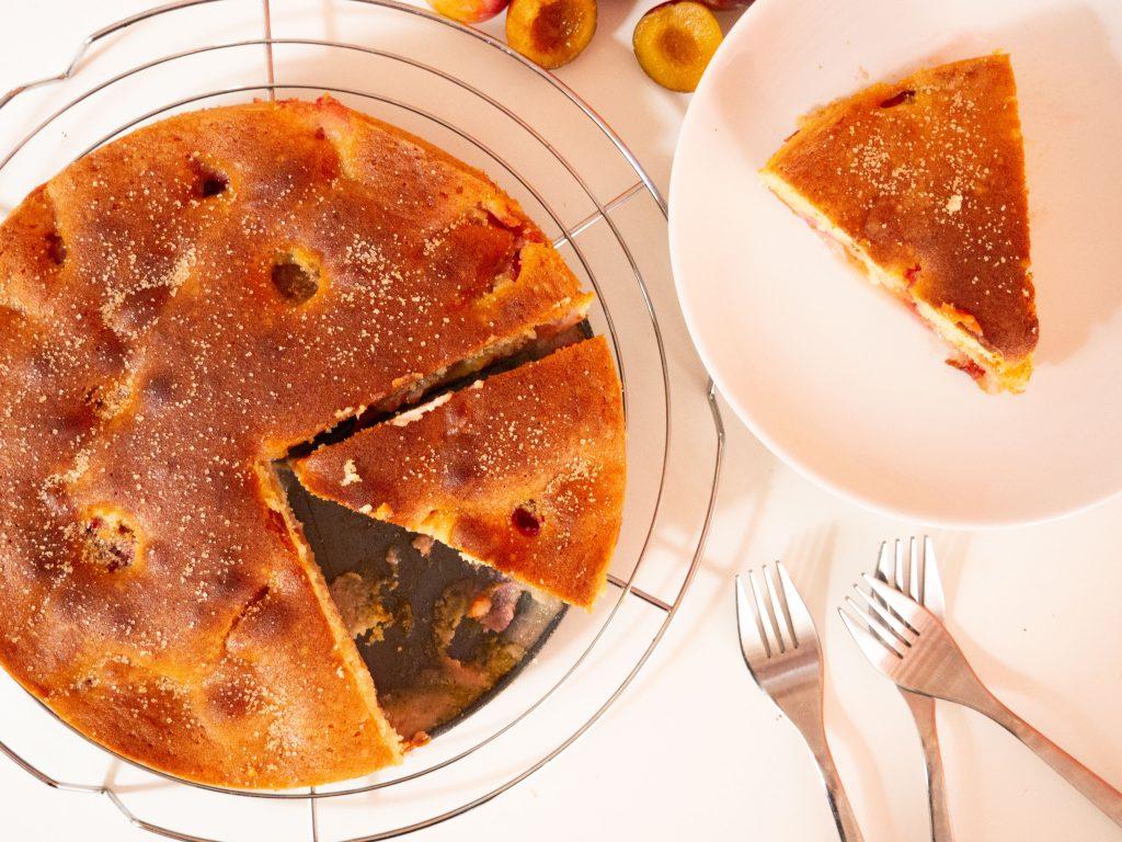 makkelijke cake verse pruimen