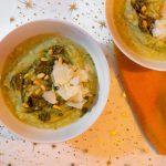 bloemkoolsoep met basilicum pesto