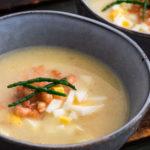 asperges: aspergesoep met hollandse garnalen