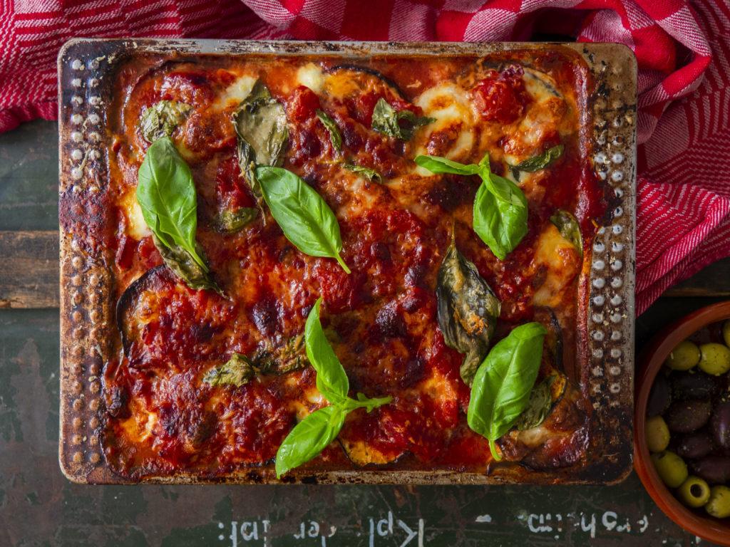 Melanzane Alla Parmigiana || Vegetarische ovenschotel